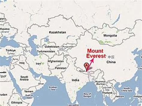 mount everest map map of mt everest my
