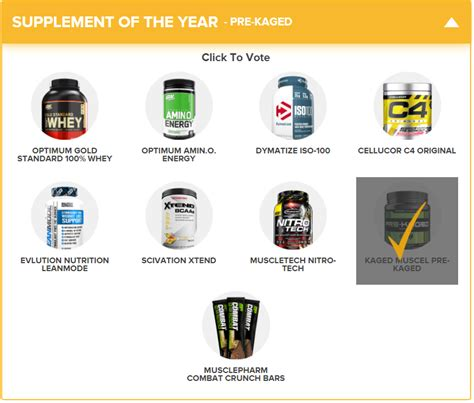 supplement of the year 2017 vote for nutrabio as 2017 s bodybuilding breakout brand of