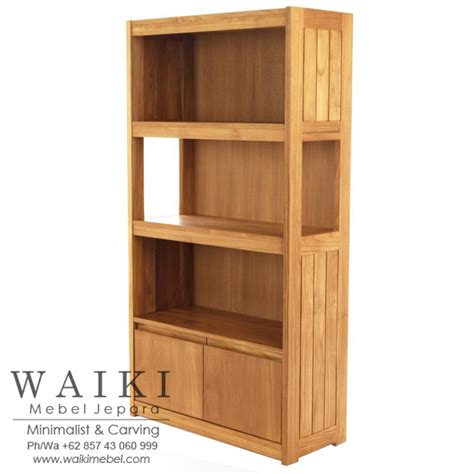 Rak Buku Jati Minimalis 2 jual rak buku minimalis kayu jati jepara kualitas ekspor