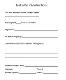 Confirmation Letter Of Volunteer Hours 38 Service Letter Formats