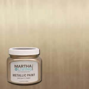 martha stewart living 10 oz vintage gold satin metallic
