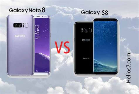 Samsung S8 Plus Vs Note 8 samsung galaxy note 8 vs samsung galaxy s8 plus what are the differences helios7