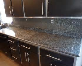 deep blue pearl granite tile countertop for kitchen white island with and sink the