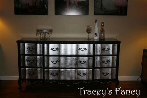How To Paint A Dresser Metallic Silver by Items Similar To Provincial Silver Leaf Dresser