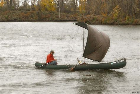 canoes with sails canoe sail diy do it your self