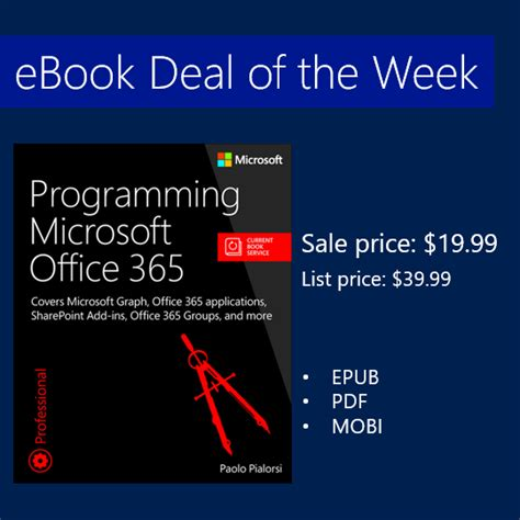 Deal Of The Week 20 At Max And by Ebook Deal Of The Week Programming Microsoft Office 365