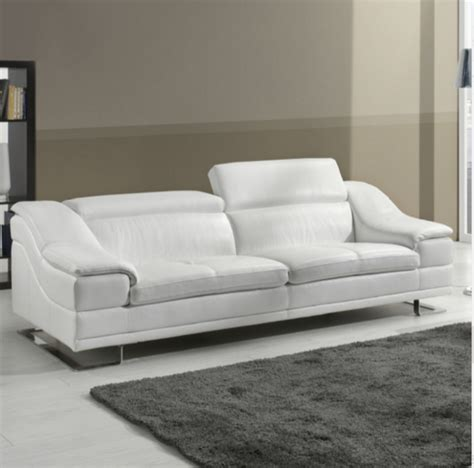 White Leather Sofas Uk 7 Beautiful White Leather Sofas For Your Living Room