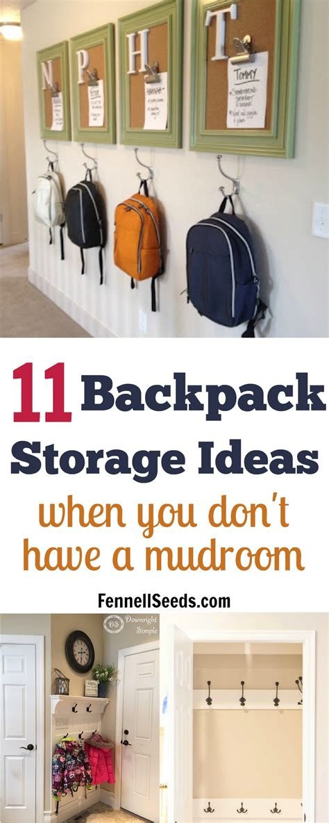 backpack storage ideas 11 backpack storage ideas when you don t have a mudroom
