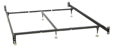 bed frame rails queen king bed rail frame w 6 legs bed rails