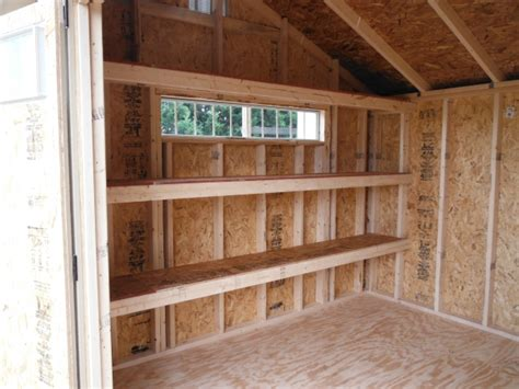 Shelves For Sheds by Shed Specialty Options Mainus Construction Waterford
