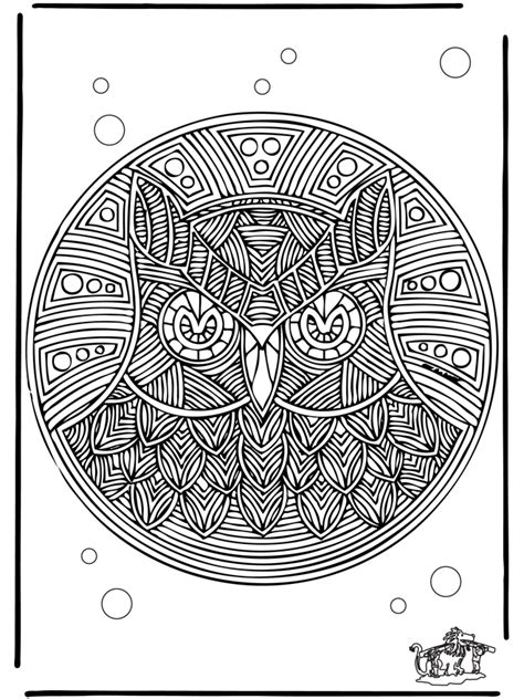 Mandala hibou - Mandala d'animaux
