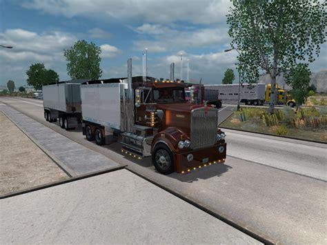 kenworth  tipper trailer  truck euro truck simulator  mods