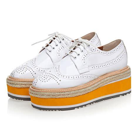 plus size 41 platform shoes genuine leather flat