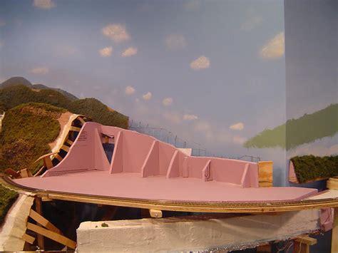 model train mountains  cardboard