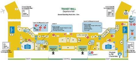 map of singapore airport terminals singapore changi airport map terminals