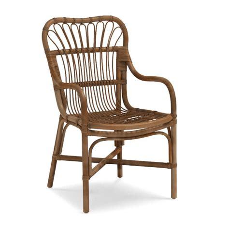 rattan armchair st martin rattan dining armchair williams sonoma