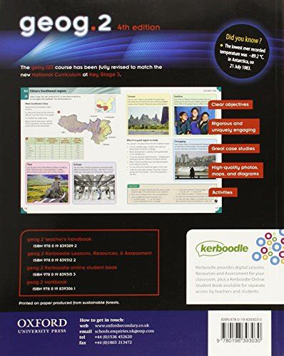 libro geog 1 workbook geog123 4th libro geog 2 4th edition student book di rosemarie gallagher richard parish