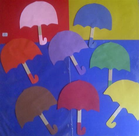umbrella craft for crafts actvities and worksheets for preschool toddler and