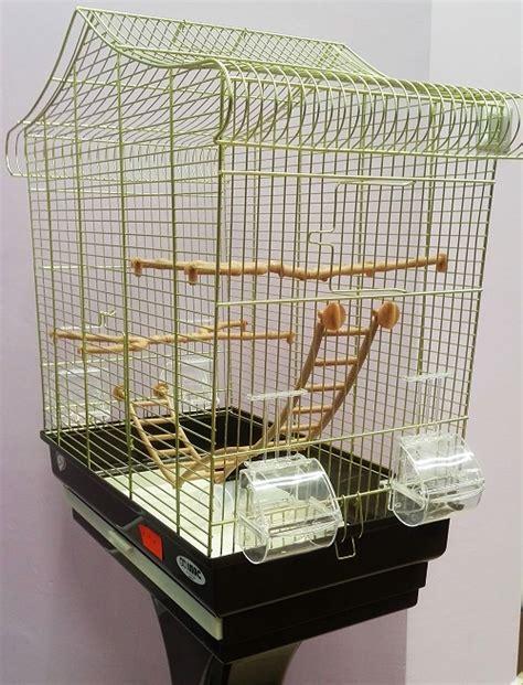 imac gabbie gabbia imac sofia per pappagallini con piedistallo