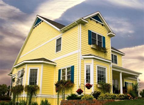 yellow exterior paint expertly crafted paint schemes for your home exterior