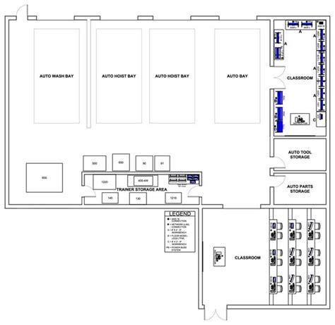 automotive workshop floor plan layout garage