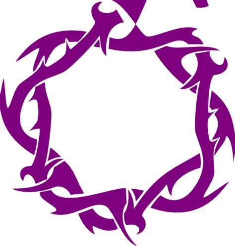 S R M purple thorns clip at clker vector clip