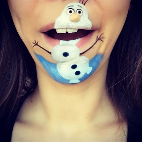 frozen olaf the snowman disney character face she turned her mouth into famous live cartoon characters