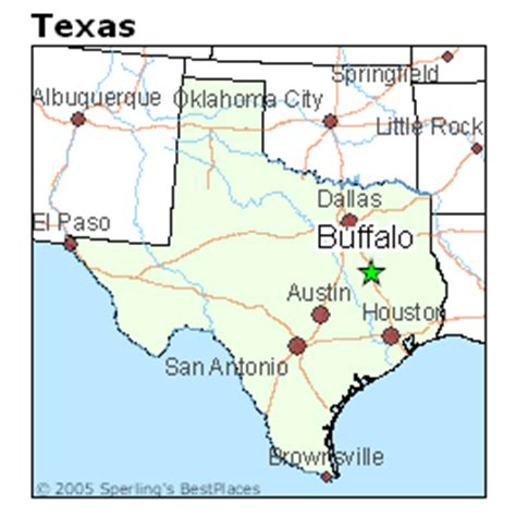buffalo texas map best places to live in buffalo texas