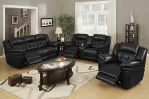 Black Livingroom Furniture Black Leather Reclining Sofa Loveseat Power Power Motion