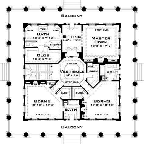 plantation style floor plans revival plantation house riceboro ga plans tara