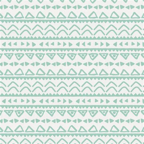 tribal pattern mint green mint baby aztec fabric by the yard green fabric