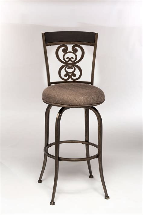 pewter bar stools hillsdale andorra swivel bar stool rubbed pewter aged