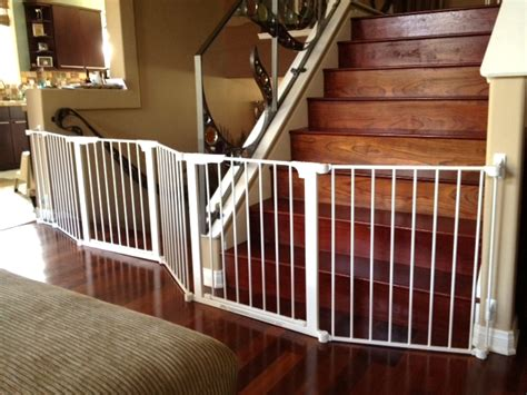 dual banister baby gate double banister baby gate 5 things to look for in a house