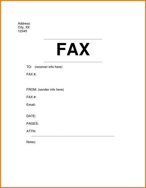 fax cover sheet sle fax cover sheet standard fax cover sheet print fax