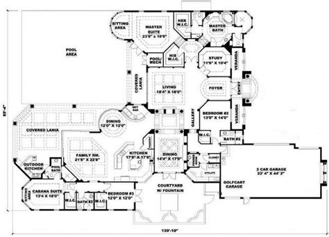 4 Bedroom 5 Bath Mediterranean House Plan Alp 089d Floor Plans Gwu