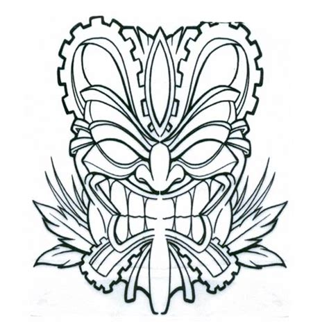 tribal tiki tattoo tiki mask tribal design flash pictures