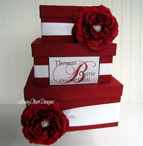Wedding Card Gift Box - wedding card box envelope gift box custom by laceyclairedesigns