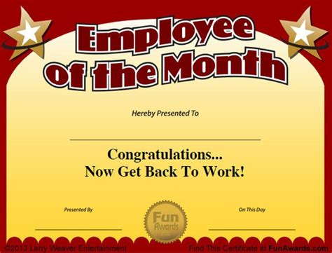 quot 101 funny employee awards quot now contains funny employee of