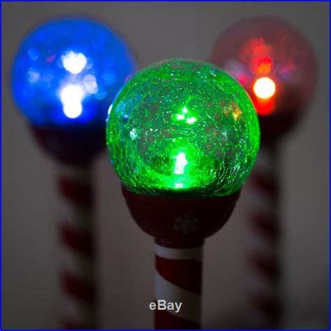 6pk led solar pathway lights christmas crackle color