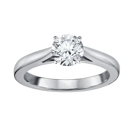 tradition 1 carat certified 14k white gold