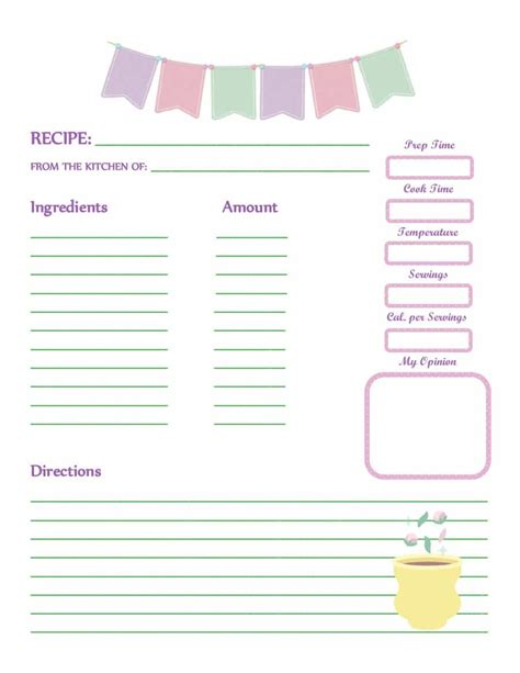 44 Perfect Cookbook Templates Recipe Book Recipe Cards Free Cookbook Template