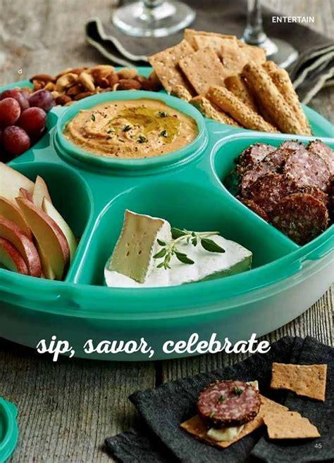 tupperware serving center set is versatile has six 2cup compartments a 14oz removable bowl w