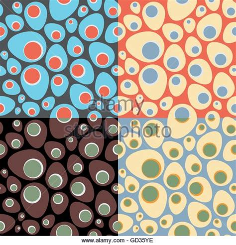 Seamless Oval Pattern | oval shape drawing stock photos oval shape drawing stock