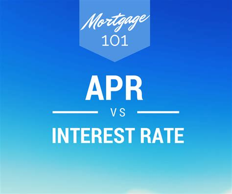 what is apr and how mortgage 101 apr vs interest rate whats s the different