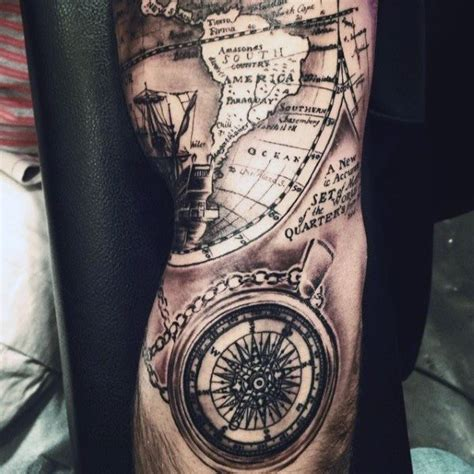 collection of 25 realistic grey nautical tattoos for guys