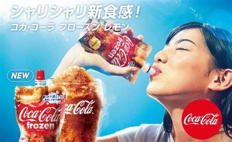 film frozen bahasa jepang coca cola japan buat frozen slushie beverage praktis