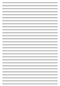 papel para escribir con lineas plantilla para escribir