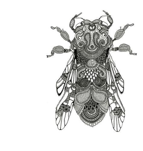 Pensil Alis Merk Davis rosalind monks zentangle insects