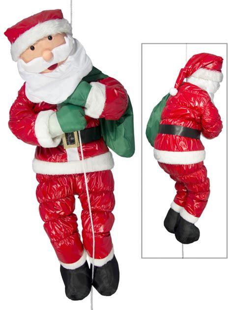 large hanging padded santa outdoor decoration 1 2m