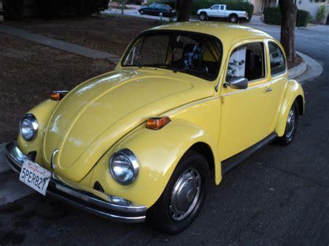yellow volkswagen bug 1974 vw bug beetle yellow standard bug manual transmission